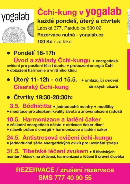 Čchi-kung - lekce v yogalab KVĚTEN 2018