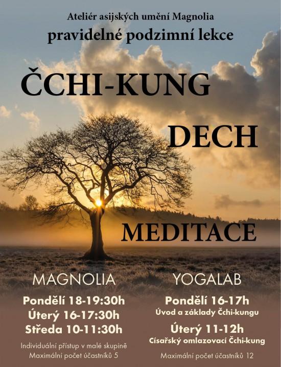 Pravidelné podzimní lekce Čchi-kung Dech Meditace v  Ateliéru asijských umění Magnolia Pardubice